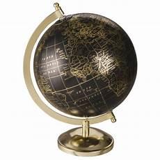 globe terrestre carte du monde noir et dor 233 5th avenue