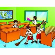 Gambar Kartun Lingkungan Rumah Yang Kotor