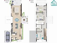 2 storey house plans nz a narrow two story space smart house plan perfect for