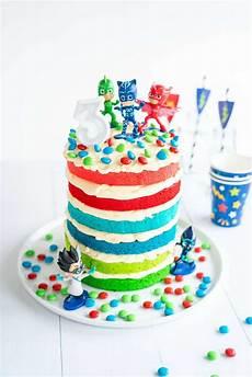 pj masks cake easy diy birthday cake for