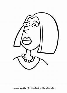 Malvorlagen Menschen Gesichter Ausmalbilder Erstaunte Frau Menschen Zum Ausmalen