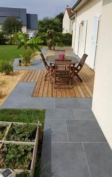 terrasse en bois ou carrelage conception terrasse plekan paysage jardin terrasse en