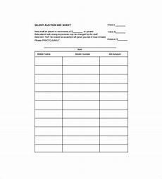 bid free silent auction bid sheet template hunters for get