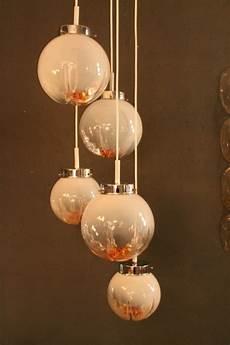lustre suspension mazzega en verre de murano 1960