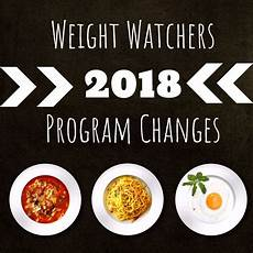 Weight Watchers 2018 Program Changes What S On The
