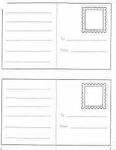 postcard template preschool dramatic play center ideas i can read and write