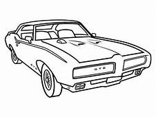 Mustang Convertible Coloring Page Pages