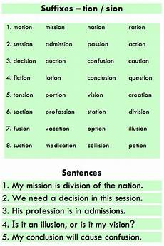 spelling worksheets tion sion 22559 suffixes tion and sion learn grammar spelling teaching