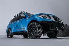 Lifted Nissan Armada blizzards beware nissan armada snow patrol concept is
