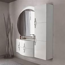 interno bagno mobile bagno 100 cm sospeso con colonna e specchio led