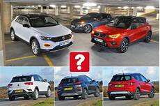 new hyundai kona volkswagen t roc vs seat arona
