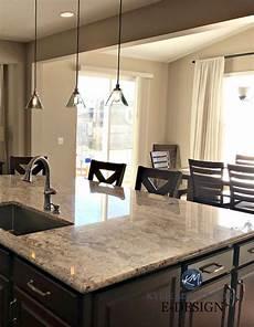 sherwin williams barcelona beige kitchen with dark cabinets granite m interiors