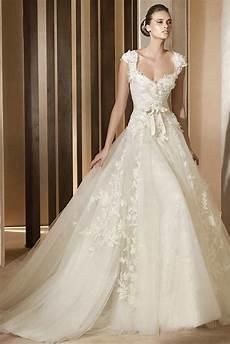 princess wedding dress with cap sleeves and bateau vintage lace princess wedding dress with cap sleeves sang maestro