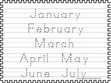 handwriting worksheets months of the year 21479 2 trace the months of the year worksheets preschool kdg handwriting