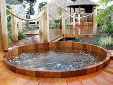 garten whirlpool 48 awesome garden hot tub designs digsdigs