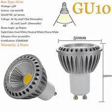Led Spot Light Bulbs Dimmable Gu10 Mr16 E26 E27 15w Cob