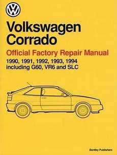 service and repair manuals 1994 volkswagen corrado instrument cluster volkswagen corrado a2 official factory repair manual 1990 1994 volkswagen of america