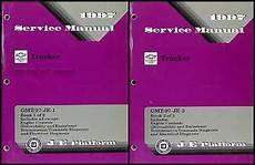 car repair manuals download 2003 chevrolet tracker parking system 1997 chevy geo tracker repair shop manual original 2 volume set