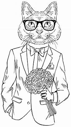coloring pages cool cats