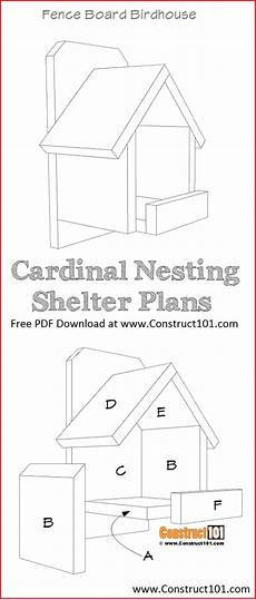 cardinal bird house plans cardinal nesting shelter bird house plans pdf download