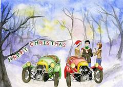 Christmas Cards From Regalia  The Morgan Three Wheeler Club