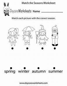 4 seasons worksheets for kindergarten 14892 preschoolers to match each picture with the correct season in this free worksheet