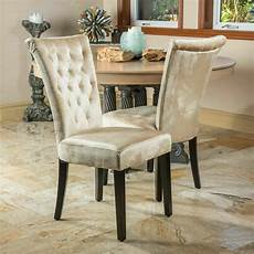 Dining Room Chairs set of 2 dining room chagne velvet dining chairs w