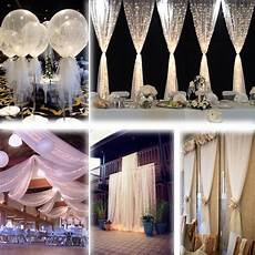 white 54 quot x120 ft 40 yards tulle bolt wedding decoration bolt pew craft favor fabric bridal