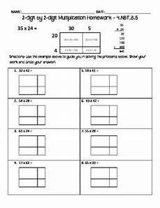 multiplication worksheets using area model 4625 2 digit by 2 digit multiplication homework area model multiplication math multiplication