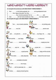 was were exercises worksheet free esl printable worksheets made by teachers