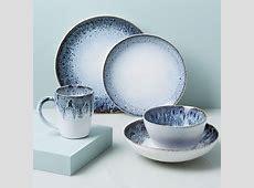 Reactive Glaze Dinnerware Set   Black/White   west elm