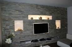 wohnwand stein wohnideen steintapete