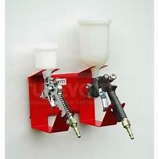 Support Pistolet A Peinture Support Mural Pour 2 Pistolets Peinture Peinturevoiture