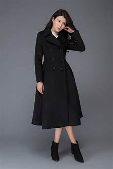 Black Coat Wool Coat Winter Coat Womens Coat Winter
