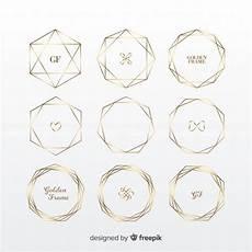 cornici geometriche set di cornici dorate geometriche scaricare vettori gratis