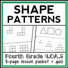 addition patterns worksheets 4th grade 465 geometric patterns lesson 4th grade shape patterns lesson packet 4 oa 5 with images common