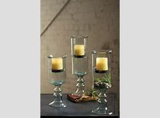 large mini glass candle cylinder with metal insert and