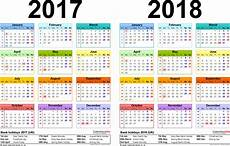 Two Year Calendars For 2017 2018 Uk For Pdf