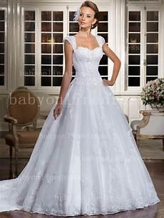 wholesale lace gowns bridal white sweetheart cap sleeve princess wedding dresses elegant lt09