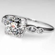 1 5 carat diamond antique engagement ring solid platinum