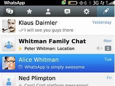 whatsapp for blackberry 10 os update brings web link
