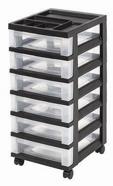 In Drawer Storage by Iris 6 Drawer Storage Cart With Organizer Top