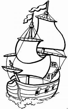 Gratis Malvorlagen Segelschiffe Segelschiff Vorne Ausmalbild Malvorlage Die Weite Welt