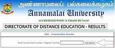 annamalai university dde ug pg results 2017 declared