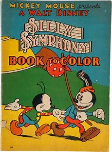 silly symphony book to color 660 whitman 1934 t h