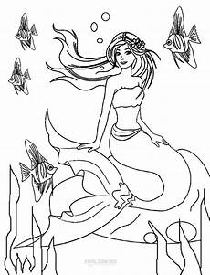mermaid coloring sheets printable coloring pages