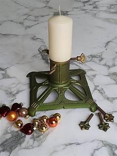 vintage weihnachtsbaum st 228 nder gusseisen gr 252 n gold baum