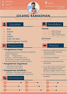 contoh curriculum vitae bahasa indonesia terbaik cv nabila