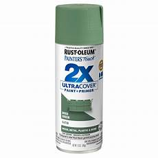 rust oleum painter s touch 2x 12 oz satin moss green general purpose spray paint 334075 the