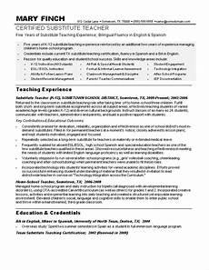 sle teacher resumes substitute teacher resume sle teacher resumes free job resumes